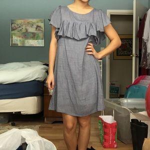 Dresses & Skirts - Chambray Ruffle Shift Dress