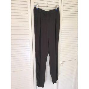 La't by L'agence black tie waist elastic pants