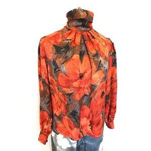 Vintage Tops - Beautiful vintage floral blouse