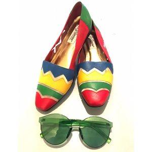 Vintage Shoes - Vintage 80's slip on flats