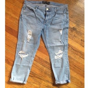 EXPRESS DISTRESSED GIRLFRIEND JEANS