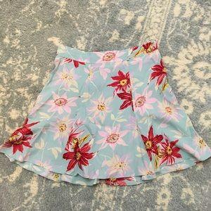 Reformation Dresses & Skirts - Reformation Baby Blue Floral Printed Skater Skirt