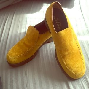 Hush Puppies Shoes - Mustard suede Hushpuppies loafers slipons slipper