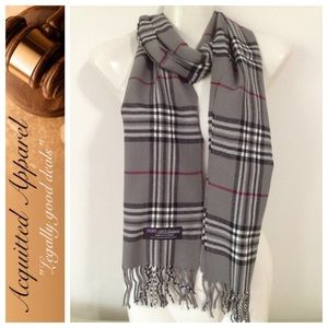 Acquitted Apparel Accessories - Cashmere Plaid Small Check Scarf Made In England