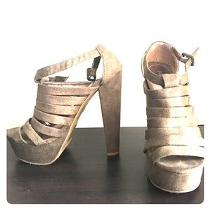 Size 6, Grey Forever 21 heels