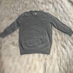 J. Crew Factory Sweaters - J. Crew merino wool gray sweater