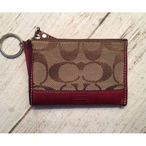 Coach leather/fabric Card case