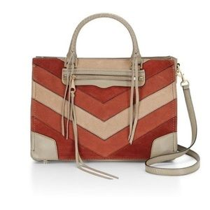 [Rebecca Minkoff]regan satchel tote -whiskey multi