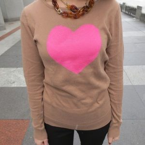 80% off Old Navy Sweaters - Old Navy brown with pink heart sweater ...