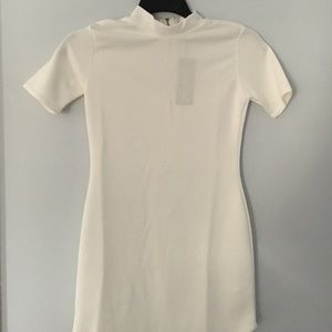NEW white mock neck bodycon dress