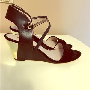 Louise et Cie black suede wedges