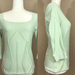 Free! Anthropologie moth mint blouse