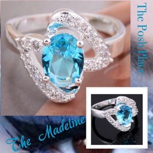 Jewelry - 💎 The Madeline 💎 Aqua Sapphire in 925 SS 💎