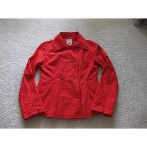 Tulle Red CoralCotton Jacket Lightweight Size S