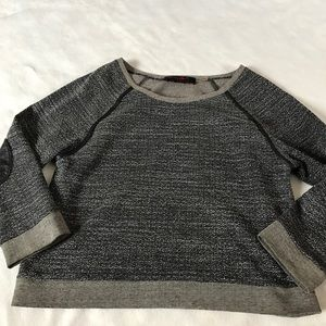 Alice + Olivia Sweaters - Alice + Olivia Raglan with Leather Elbow Patch