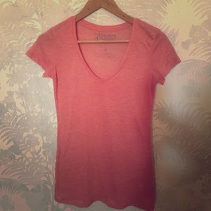 Threads 4 Thought Tops - Pink V-Neck Tee