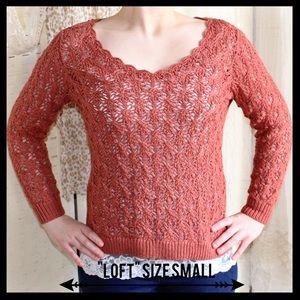 LOFT Sweaters - Ann Taylor Loft Crocheted Sweater