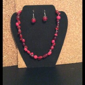 Jewelry - Earrings, and necklace
