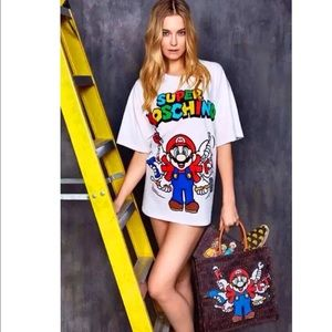 NWT Mario white T-shirt/top Super Cute!!! SZ M