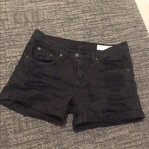 Rag & bone black jean shorts