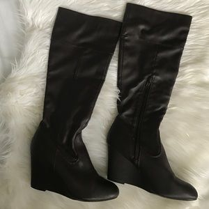 Steve Madden Shoes - {Steve Madden} Brown Wedge Boots