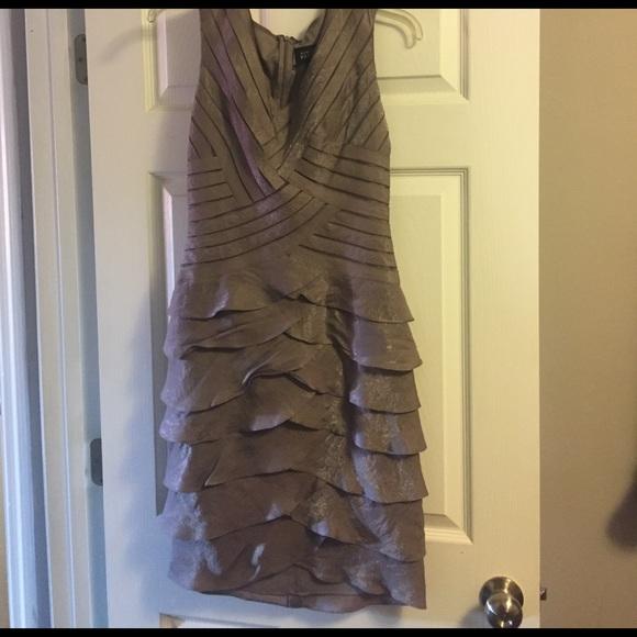 529ac92e82637 Adrianna Papell Dresses   Dark Silver Dress Never Been Worn Bought ...