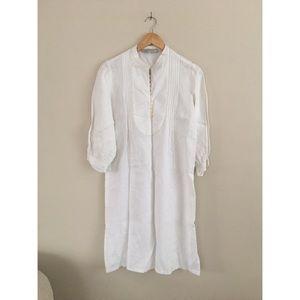 Gerard Darel Dresses & Skirts - Gerard Darel ITALY linen white bohemian tunic