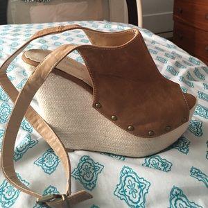 shoedazzle Shoes - Lace up wedge