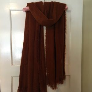 Free People beautifully soft, rust, wrap/scarf