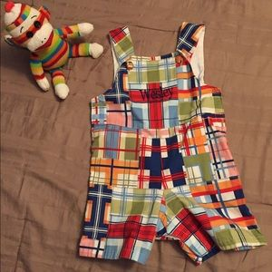Princess Linens Other - Red patchwork shortall