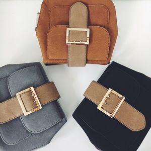 Handbags - Tabitha Vegan Leather Buckle Mini Crossbody