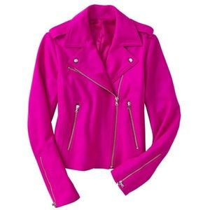 GAP Jackets & Blazers - Hot Pink Cotton Moto Jacket