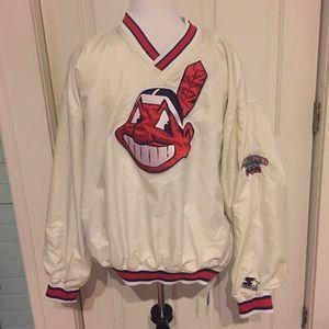 Starter Other - Vintage Starter Cleveland Indians Pullover Large