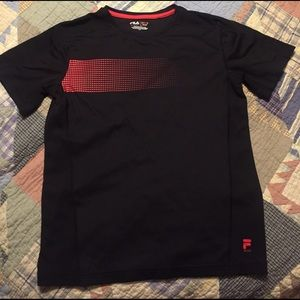 Fila Other - Fila sport boys L14/16 performance shirt black/red