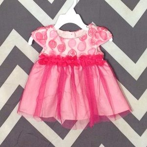 Sweet Heart Rose Other - Pink Floral Dress - 12 Months