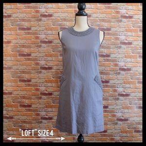 LOFT Dresses & Skirts - Ann Taylor Loft Ruffled Trim Shift Dress