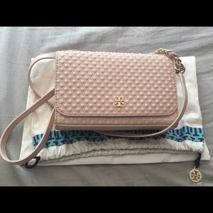Tory Burch Handbags - Blush pink Tory Burch mini cross body bag