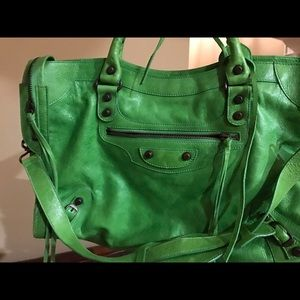 Balenciaga Handbags - 2005 Balenciaga Green Apple City