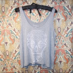 Spare Tops - Pacsun Gray graphic tank