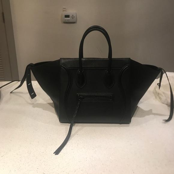 04edb8b357 Celine Handbags - Celine Black Phantom Luggage Bag - Large