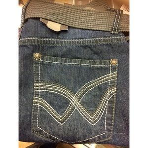 Royal Premium  Other - Belted Relaxed Blue Jeans