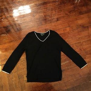 Lauren Ralph Lauren Sweaters - Black Cable Knit Ralph Lauren 3/4 sleeve sweater