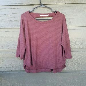 Gibson Tops - GIBSON Distressed Maroon Top