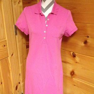 Lands End pink dress small T-shirt cute