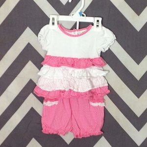 Absorba Other - Pink & White Set - 12 Months