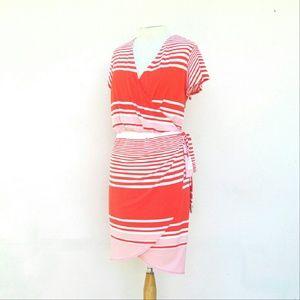 Covington Dresses & Skirts - Covington Faux Wrap Dress Size XL