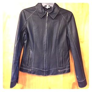 Cabi leather jacket.