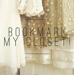 Bookmark my closet by liking this listing 💕💕