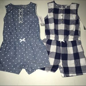 Carter's Other - Lot of 2 One Piece Rompers NWT Size 18 months