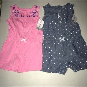 Carter's Other - Lot of 2 One Piece Rompers NWT Size 18 or 12 m